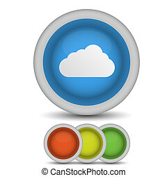 Vector computer cloud icon on white. Eps10