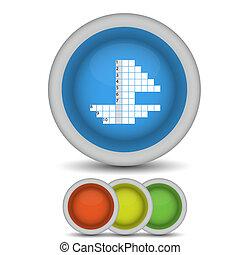 Vector crossword icon on white. Eps10