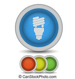 Vector light bulb icon on white. Eps 10