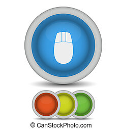vector mouse web icon on white. Eps10