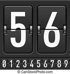 mécanique, scoreboard, nombres