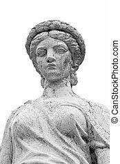 Roman Statue in black and white