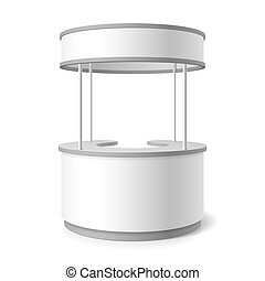 Trade stand vector illustration