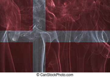 Denmark flag overlay on smoke. - Denmark flag overlay on...