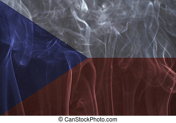 Czech flag overlay on smoke - Czech flag overlay on smoke...