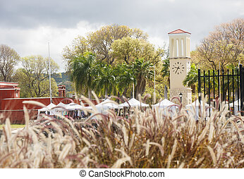 Clock Tower and Sreet Festival Beyond Sea Oats - Clock tower...