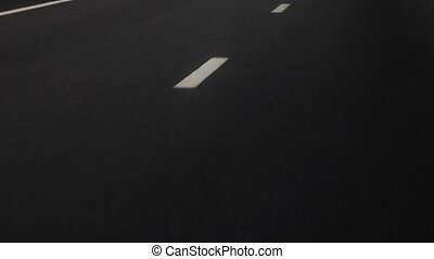 Road line on asphalt