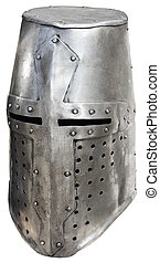 Medieval knights helmet1 - Medieval knights helmet on a...