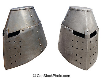 Medieval knights helmet2 - Medieval knights helmet on a...