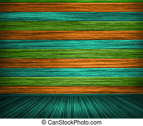 Colorful Painted Wooden Interior