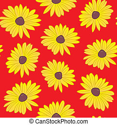 Seamless Black Eyed Susan Pattern - A seamless pattern of...
