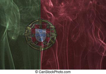 Portugal flag overlay on smoke. - Portugal flag overlay on...