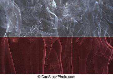 Poland flag overlay on smoke - Poland flag overlay on smoke...