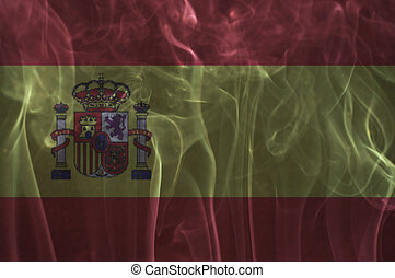 Spain flag overlay on smoke - Spain flag overlay on smoke...