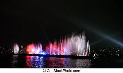 water, light and laser show 3 - beautiful visual show