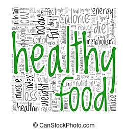 Healthy food concept in tag cloud