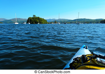 Lake Windermere - View across Lake Windermere from Lilies of...