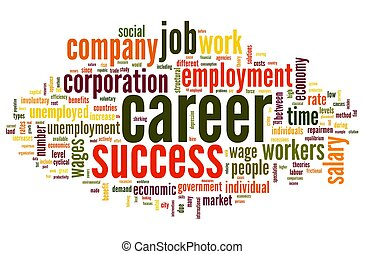 Career concept in word tag cloud