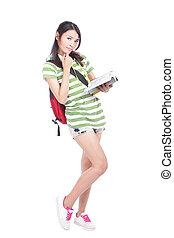 university Student girl full length