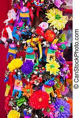 mexicano, navidad, árbol, decoraciones, viejo, San,...