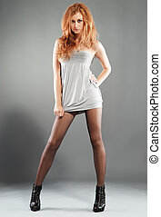 Sexy Red-Haired Fashion Model - Sexy red-haired beautiful...