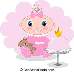 baby girl - newborn baby girl shower