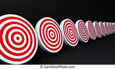 targets and arrows red - Many arrows hit to the targets That...