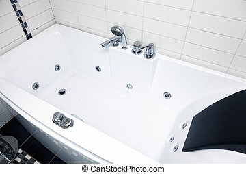 Hydromassage and spa bathtub - Modern and beautiful bathroom...