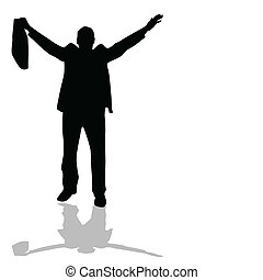 man with bag silhouette vector