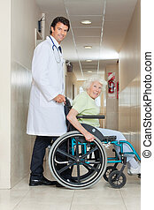 Senior Woman In a Wheel Chair