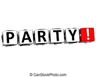 3D Party Crossword