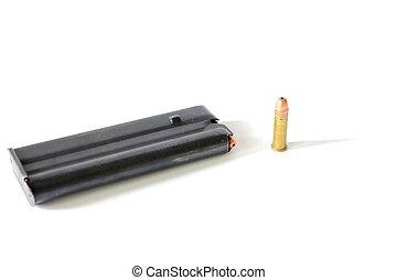 22, munições,  clip
