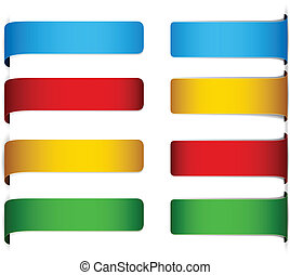 Set of paper labels. - .Vector set of multicolored paper...