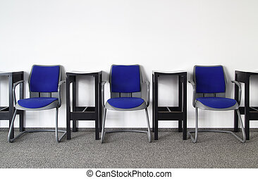 Nobody Here - Chairs in Ordinary Empty Waiting Room
