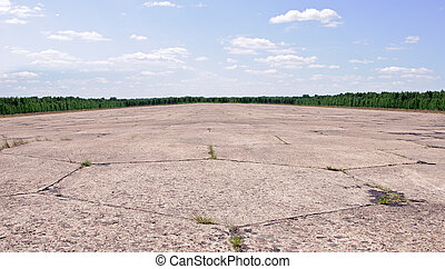 abandoned airstrip - there is old airfield runway in the...