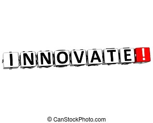 3D Innovate Crossword on white background