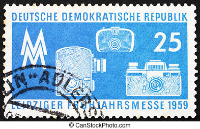 Postage stamp GDR 1959 Photographic Equipment - GDR - CIRCA...