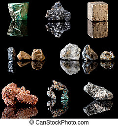 Metal containing minerals - Series of metal containing...