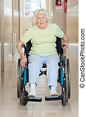 Senior Woman Sitting In a Wheel Chair