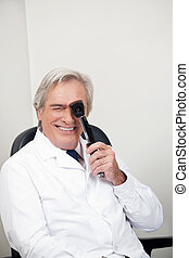 optometrista,  ophthalmoscope