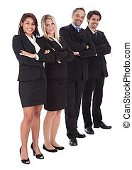Group of business people together