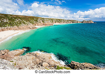 Porthcurno Cornwall England - Porthcurno Beach and Treen...
