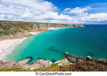Porthcurno Cornwall England - Porthcurno Beach and Treen...