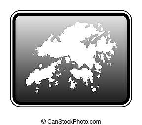 Hong Kong map on computer tablet