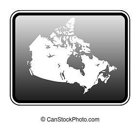 Canada map on computer tablet