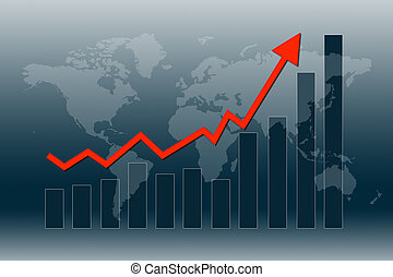 World economy recover - Graph and chart show world economy...