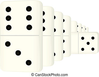 Dominoes - Vector illustration of a domino tiles are going...
