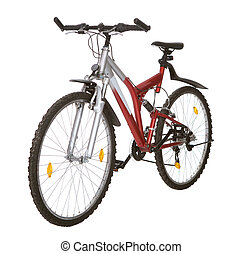 Photo of a mountain bike. Isolated on white