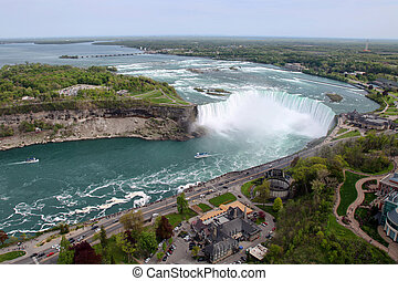 Niagara Falls - The view of the Horseshoe Falls. Niagara...