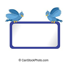 Blue Bulletin Board and Blue Birds